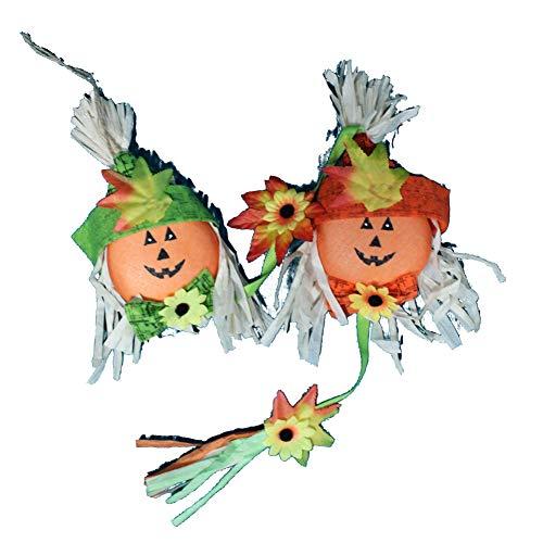 Halloween Deko Grusel Dekoration Set Halloween Dekorative Kürbiskette Szene Vogelscheuche zufällige Farbe 1 Packung für Halloweendeko Make-up-Party Halloween Dekoration