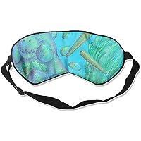Eye Mask Eyeshade Manatee Drawing Sleep Mask Blindfold Eyepatch Adjustable Head Strap preisvergleich bei billige-tabletten.eu