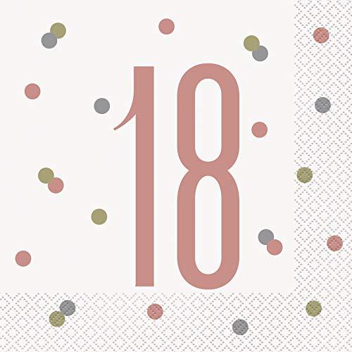 Unique Party- Servilletas de papel, Color oro rosa (84880)