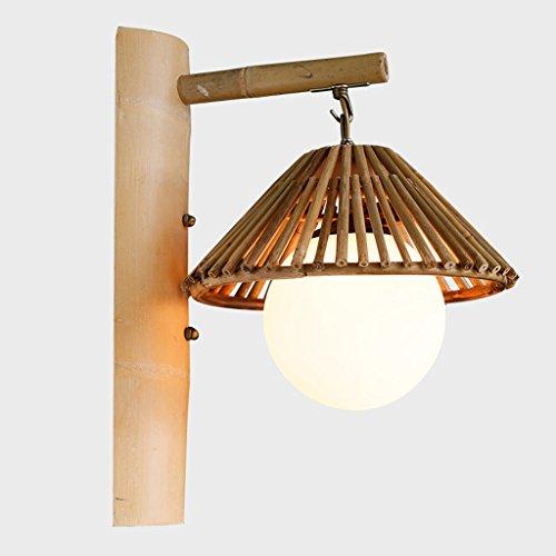 CKH Retro dekorative Wandleuchte Inn Restaurant Bambus Lampe kreative Cottage Teelampe einfache Bambus japanische Wandleuchte