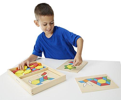 Imagen principal de Melissa & Doug - Bloques y tableros con diseños (10029)