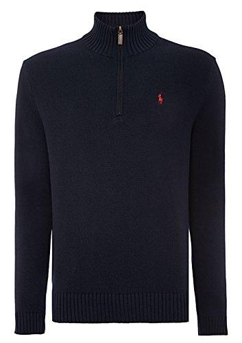 Ralph Lauren Polo Herren Pullover Half Zip Pullover S - XXL Gr. Medium, Navy