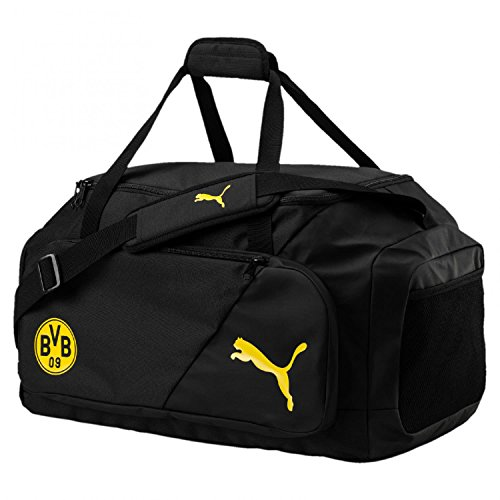 PUMA BVB Liga M Bag Tasche, Black-Cyber Yellow, UA