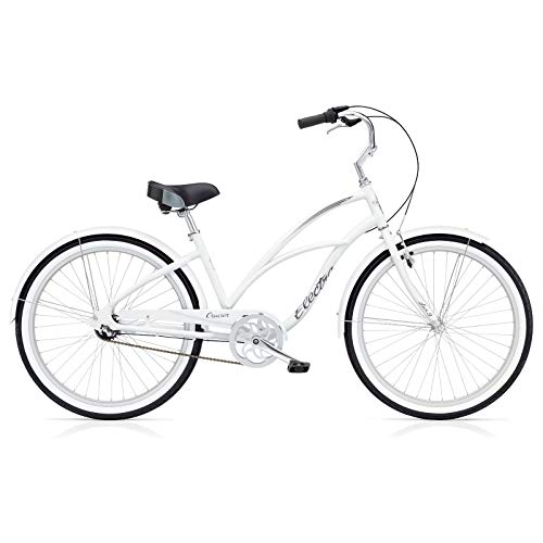 Electra Cruiser Lux 3i Damen Fahrrad Weiß 26 Zoll Beach Cruiser Retro Rad 3 Gang Schaltung, 539874