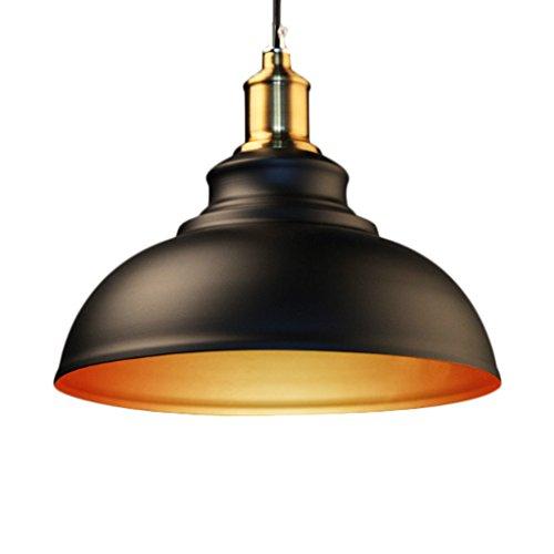 Kronleuchter Neue und einfache LOFT American Country Retro Industrielle Kreative Restaurant Bartisch Persönlichkeit Neue Bronze E27 (Farbe : Schwarz) -