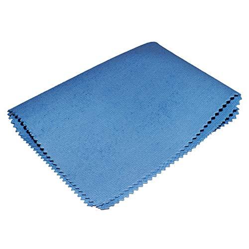 Sonty 5 Stück Edelstahl Reinigungstücher Microfaser PU, ca. 35 x 40 cm blau (5)