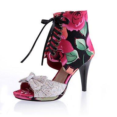 zhENfu Donna stivali Primavera Estate Autunno Gladiator cinturino alla caviglia scarpe Club illumina le scarpe Comfort Felpa casual parte & abito da sera Stiletto Heel Blue
