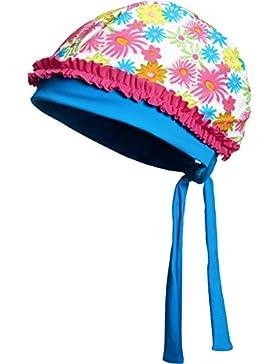 Playshoes Mädchen Mütze Kopftuch Bademütze Blumenmeer mit Uv-Schutz