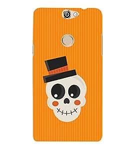 Fiobs Designer Back Case Cover for Coolpad Max (Cute Skull Funny Hat Masum Skeleton Bone Mobile Cover)