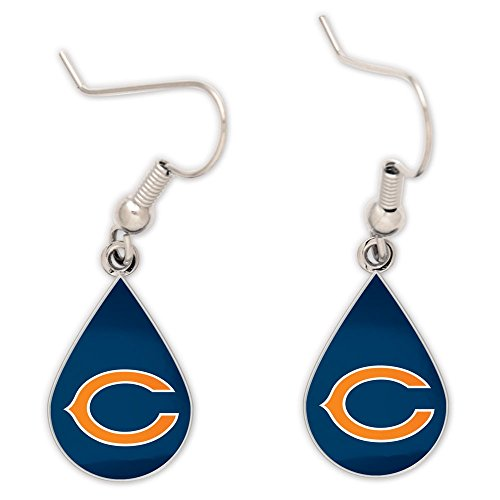 NFL Chicago Bears Tear Drop Ohrringe