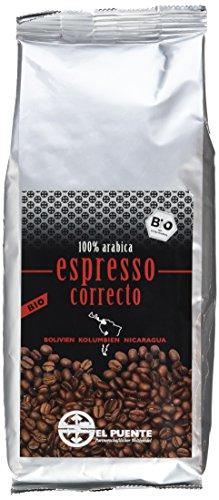 El Puente Bio-Espressomischung Correcto gemahlen, 4er Pack (4 x 250 - Röstung Kaffee-bohnen Dunkle Bio