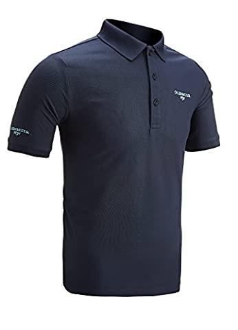 Glenmuir Performance Pique Golf Polo Shirt Navy Extra Large