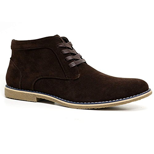 Mens New Black Brown Grey Faux Suede Leather Lace Up Chukka Ankle...