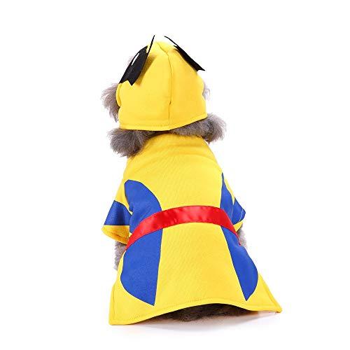 Wolverine Alle Kostüm - Smniao Hundekleidung für Kleine Hunde Bulldogge Halloween Cosplay Wolverine Anzug Hundemantel Haustier Bekleidung Hundepullover (L, Gelb)