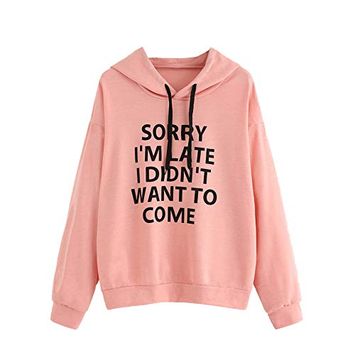 Lazzgirl Women O-Neck Hoodie Jumper Long Sleeve Letter for sale  Delivered anywhere in UK