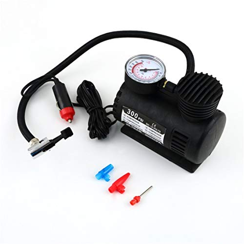 Mazur Schwarz Tragbare Vielseitig 12 V 300PSI Auto Reifen Reifenfüller Pumpe Mini Kompakte Kompressor Pumpe Auto Bike Reifen Luftpumpe