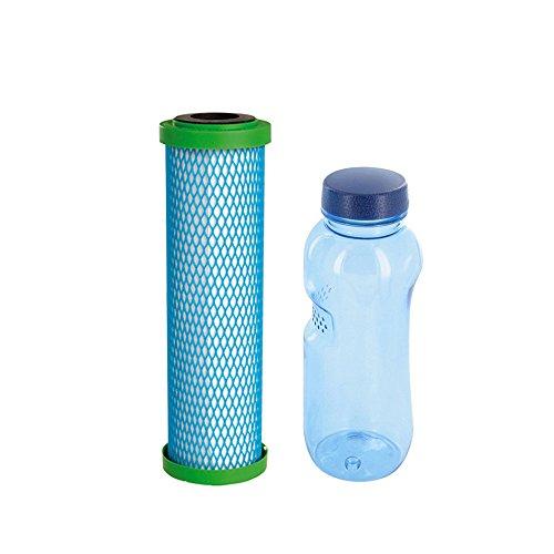 Wasserfilter-Zentrum Filterpatrone EM Premium 5 Carbonit & Tritan Trinkflasche 0,5l BPA frei -