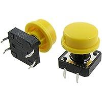 SODIAL(R) 10 Piezas 12 x 12mm x 15mm Momentaneo Pulsador Tactil tactil Interruptor