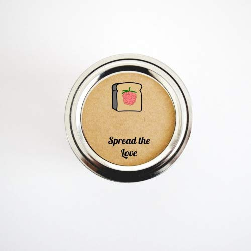Raspberry Jam Mason Jar Etiketten von Once Upon Supplies, Spread The Love Jelly Aufkleber für Homemade Gifts und Partyzubehör 2