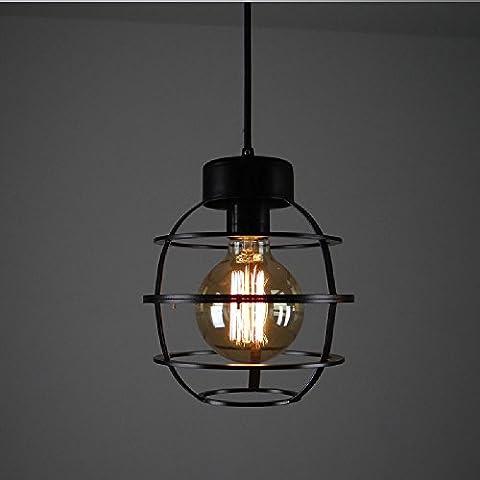 Adjustable Black iron small chandelier Cafe Bar Restaurant Study Lamps American Village clothing store milk tea shop chandelier Loft retro industrial pendant 110V ~