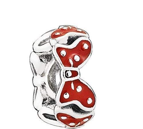 PANDORA Disney Minnie 's Bögen mit Rot Emaille Spacer 791582en09