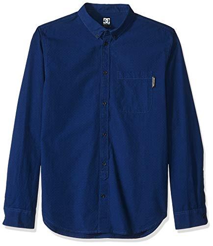 DC Herren SMALL Mark Woven Hemd, Nautical Blue, Klein Dc Beanie Woven