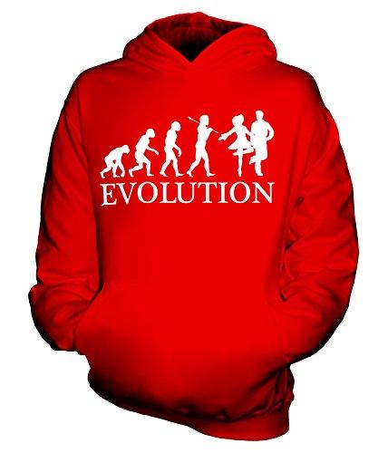 Candymix Irish Dance Evolution des Menschen Unisex Kinder Jungen/Mädchen Kapuzenpullover, Größe 9-11 Jahre, Farbe Rot (Irish Dance Kleid Kostüm)