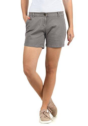 DESIRES Kathy Damen Chino Shorts Bermuda Kurze Hose Aus Stretch-Material Skinny Fit, Größe:36, Farbe:Mid Grey (2842) - Reißverschluss An Der Seite-stretch-hose