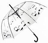 Schwarze Katzen, Durchsichtiger, Transparent Designer Damen Regenschirm