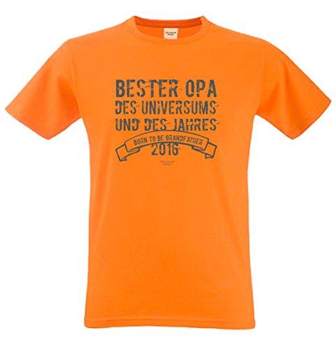 Bester Opa des Universums Papa Großvater Geschenke Set Vatertag Sprüche Fun T-Shirt & Minishirt Farbe: orange Orange