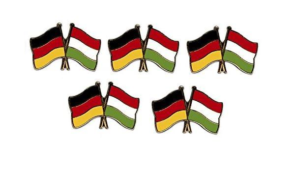 5er Pack Deutschland China Freundschaftspin Yantec Pin Flagge