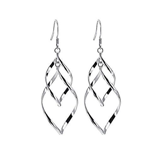 BeyDoDo 925 Silber Frauen Ohrringe Geometrische Silber Ohrhänger