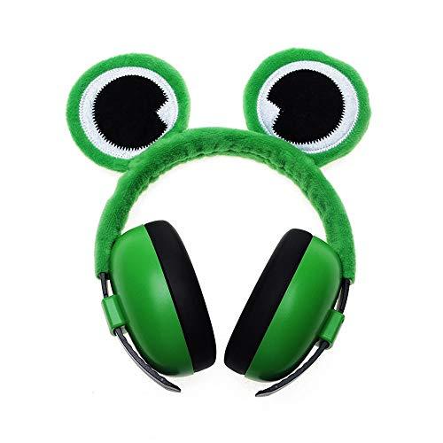 MISHUAI Schalldichte Ohrenschützer Kindersicherheit Noise Cancelling Ear Muffs für Kleinkinder mit Frosch/Giraffe/Fox Ear Lärmgeschützte Ohrenschützer am Kopf (Color : Green, Size : Free Size) Fox Muff