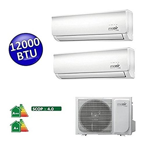 Price comparison product image McAir Dual 12000 Btu Air Conditioner - Wall Inverter Air Conditioner - Multi Split Madalue 2 R32 + 2 MA1232UI Connections Indoor Units