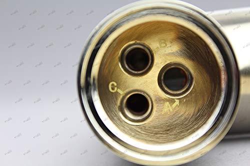 Niederdruck Spültisch Armatur Wasserhahn Einhebelmischer Mischbatterie Küche in gebürsteter Edelstahloptik und hohem Rundbogenauslauf inkl. Befestigungsmaterial und Montageanleitung - 5