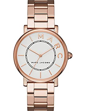 Marc Jacobs Damen-Armbanduhr Analog Quarz One Size, weiß, rosé