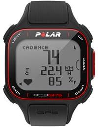 Polar RC3 GPS Reloj con pulsómetro y GPS integrado y sensor de cadencia para bicicleta, Negro