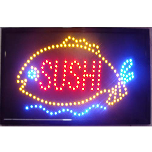CHENXI Sushi Store Neon 48 x 25 cm innen Ultra Bright blinkende LED Sushi Display Food Store LED Schild Modern 48 X 25 CM a