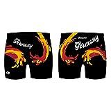 Diapolo Professionale Schwimmhose Deutschland Badehose Boxerhose Shorts Boxershorts Schwimmshorts Badeshorts für Herren Männer S M L XL XXL (Germany Maxi Boxer, XL)
