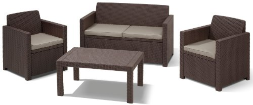 Allibert Lounge-Set Merano 4tlg, braun/taupe