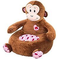 Sun Worlds-canapé Sitz Stuhl Spielzeug Kinder Plüsch Tiere Jungen Mädchen original-Fauteuil Kissen Marron Singe preisvergleich bei kinderzimmerdekopreise.eu
