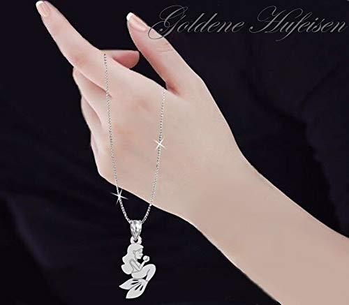 GH1a Meerjungfrau ANHÄNGER mit KETTE 925 Echt Silber Geschenkidee - 2