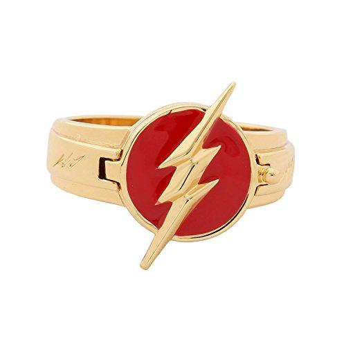 Cosplay Ringe Zink Legierung Rot Goldene Ringe Verrücktes Kleid Replik Kostüm Anhänger Zubehör (Flash Kostüm Zoom)