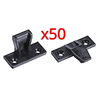 Keku Push in Plinth Fasteners Fittings Press Fit Panel Clips x50