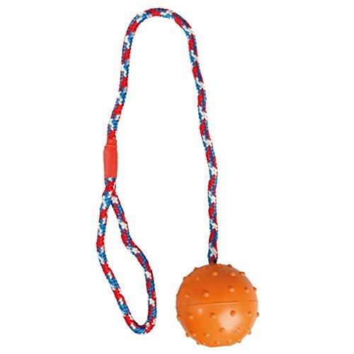 hundeinfo24.de Hundespielzeug: SCHLEUDERBALL aus Gummi Ø 7 x 57cm #507425