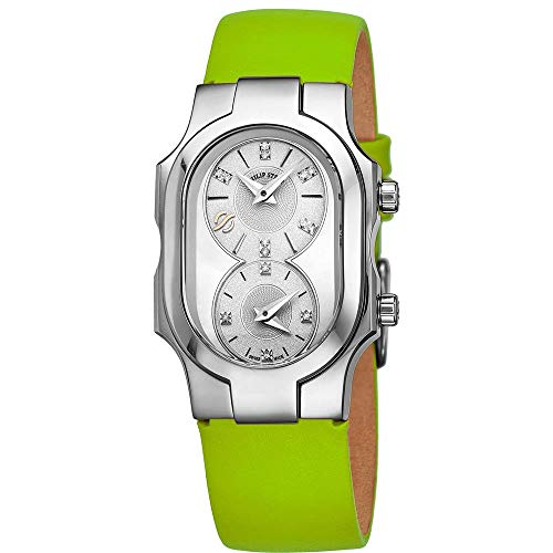 Philip Stein Women's Signature Diamond Green Swiss Quartz Watch 100DSMOPKG
