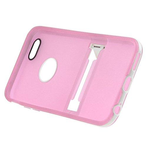 Apple iPhone 5 / 5s Etui Coque - Housse Etui Portefeuille Pu Cuir Rouge Pour Le Apple iPhone 5 5S - thinkmobile Rose Givré Cas