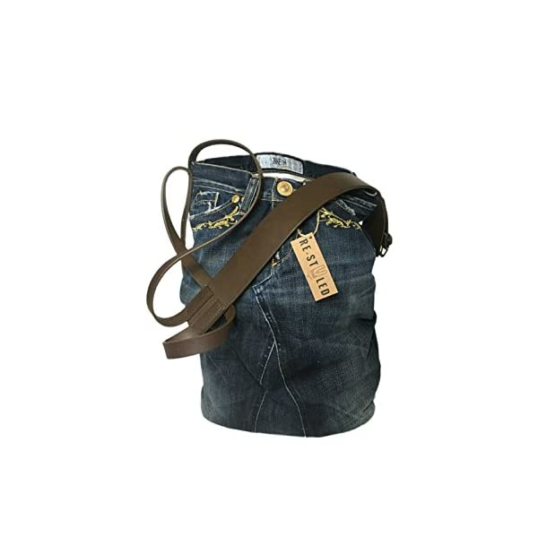 Recycled Denim Bag, Everyday bag, Denim Bag, Upcycled Denim, Jeans Bag, Denim handbag, Denim Bags Handmade, Casual Shoulder Bag, Blue Jeans - handmade-bags