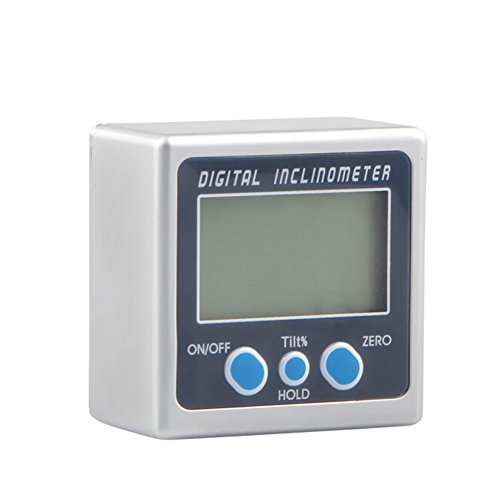 KKmoon Digital Neigungsmesser 0-360 ° Elektronische Winkelmesser Kunststoffgehäuse Digital Bevel Box Winkelmesser Meter Magneten Basis