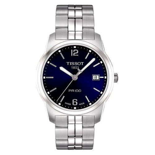 Tissot T0494101104700 - Reloj analógico de caballero de cuarzo con correa de acero inoxidable plateada
